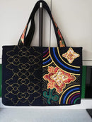 Japanese Obi Tote Bag 6x10 8x12