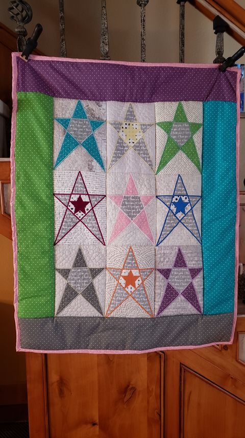 Primitive Star Blocks and Quilt 5x7 6x10 7x12