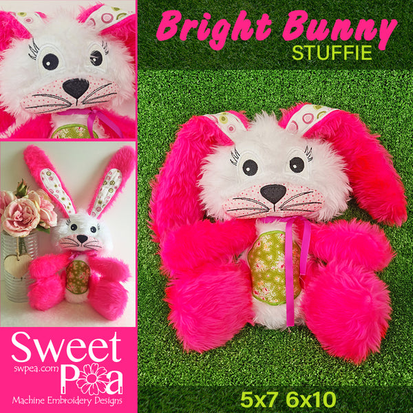 Bright Bunny stuffed toy 5x7 6x10