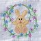 Bunny with Floral Border Applique Design 4x4 5x5 6x6 7x7 - Sweet Pea In The Hoop Machine Embroidery Design