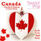 Canada flag heart mugrug or oven glove 6x10 7x12 8x8 9x12 - Sweet Pea In The Hoop Machine Embroidery Design