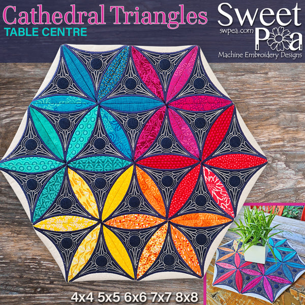 Cathedral Triangles Table Centre 4x4 5x5 6x6 7x7 8x8