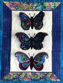 Butterfly Blocks and Table Runner 4x4 5x5 6x6 and 7x7