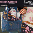 Cherry Blossoms Handbag 6x10 and 7x12 - Sweet Pea In The Hoop Machine Embroidery Design
