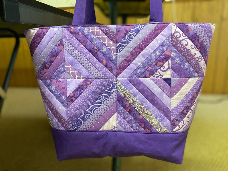 Diagonal Stripe Tote Bag 4x4 5x5 6x6 and Quilt Block 7x7