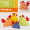 Chicken Pin Cushion or Ornament 4x4 5x5 6x6 7x7 8x8