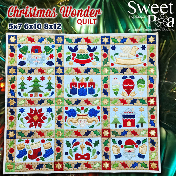 BOW Christmas Wonder Mystery Quilt Assembly Instructions