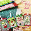 Christmas Gift Tags 4x4 - Sweet Pea In The Hoop Machine Embroidery Design