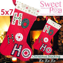 Christmas stocking ho ho ho 5x7 - Sweet Pea In The Hoop Machine Embroidery Design