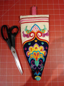 Free Embroidered Scissors Zipper Case 5x7 7x12 - Sweet Pea In The Hoop Machine Embroidery Design