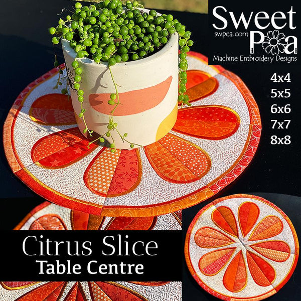 Citrus Slice Table Centre 4x4 5x5 6x6 7x7 8x8