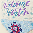 Welcome Winter Flag 5x7 6x10 7x12