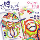 BOM Block of the month Crewel quilt block 3 - Sweet Pea In The Hoop Machine Embroidery Design