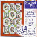 BOM Block of the Month Crewel Quilt Joining the Quilt Instructions - Sweet Pea In The Hoop Machine Embroidery Design