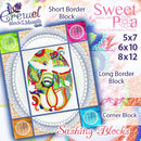BOM Block of the month Crewel Quilt Sashing and Borders - Sweet Pea In The Hoop Machine Embroidery Design