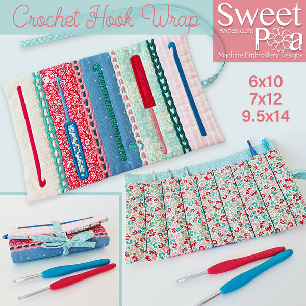 Crochet Hook Wrap 6x10 7x12 9.5x14