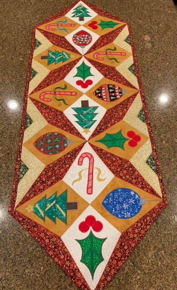 Christmas Star Table Runner 4x4 5x5 6x6