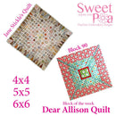 Dear Allison 90 and bonus border block 91 - Sweet Pea In The Hoop Machine Embroidery Design