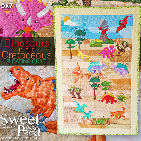 Dinosaur in the Cretaceous (Floating) Quilt 5x7