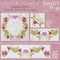 Dove & Flower Embroidery (Wreath, Borders & Corners)