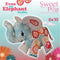 Evan the Elephant stuffed toy - Sweet Pea In The Hoop Machine Embroidery Design