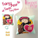 Fairy and Bear tooth fairy pillow 6x6 and 8x8 - Sweet Pea In The Hoop Machine Embroidery Design