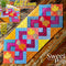 Fall leaves quilt block and table runner 4x4 5x5 6x6 7x7