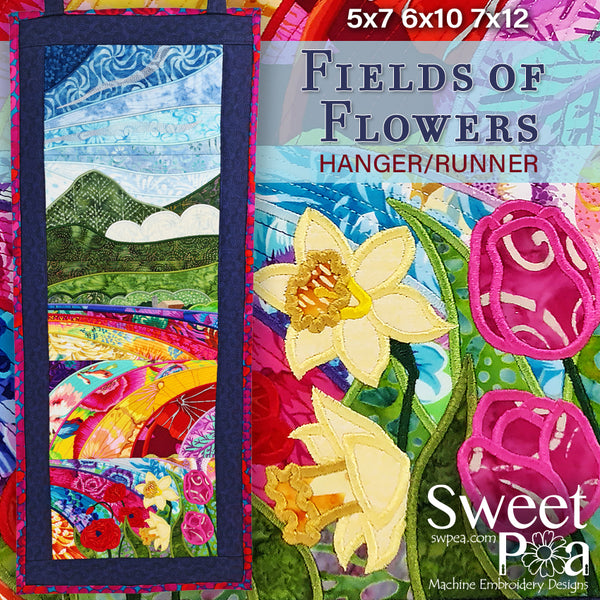 Fields of Flowers Hanger or Runner 5x7 6x10 7x12