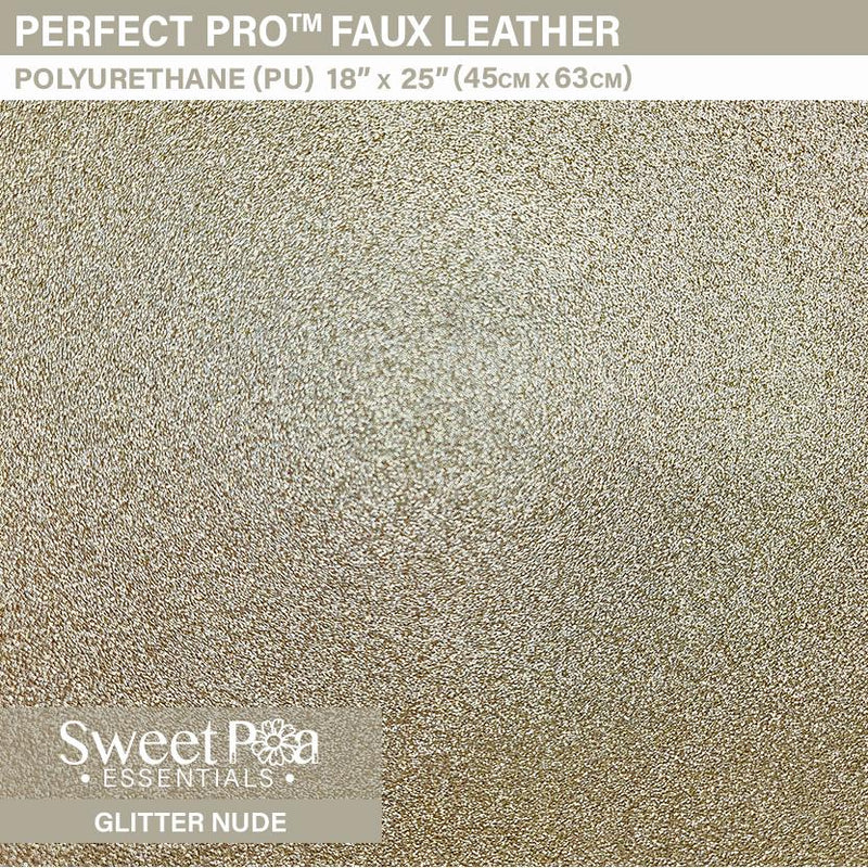 Perfect Pro™ Faux Leather - Glitter Nude 0.8mm