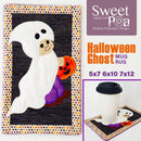 Halloween Ghost Mugrug 5x7 6x10 7x12 - Sweet Pea In The Hoop Machine Embroidery Design