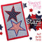 Hawaiian Stars Mugrug 5x7 6x10 and 7x12 - Sweet Pea In The Hoop Machine Embroidery Design