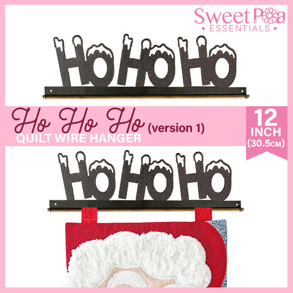 HO HO HO Quilt Wire Hanger 12in