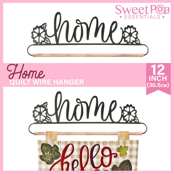 Home Quilt Wire Hanger 12in