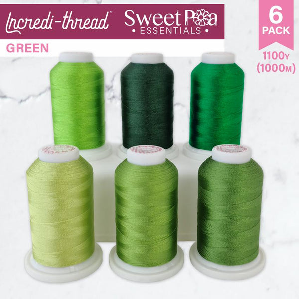 Incredi-thread™ 1000M/1100YDS 6 Pack - Green