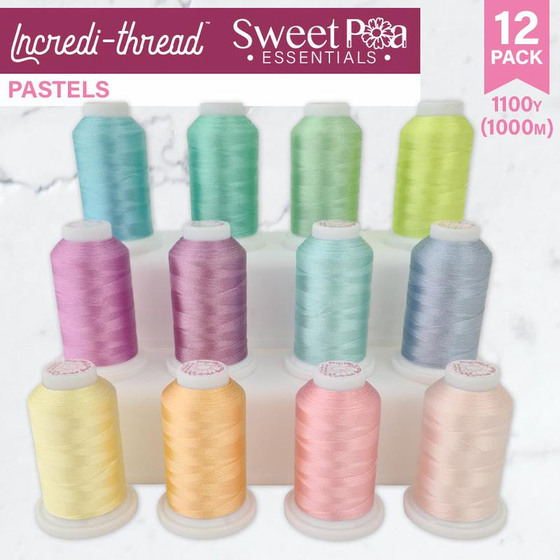Incredi-thread™ 1000M/1100YDS 12 Pack - Pastels