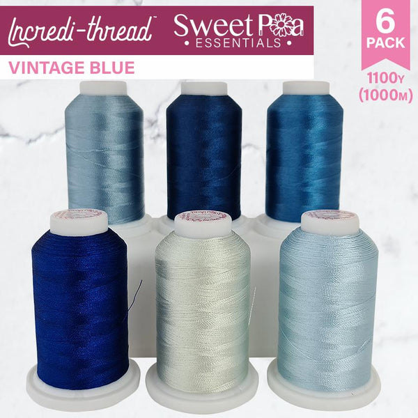 Incredi-thread™ 1000M/1100YDS 6 Pack - Vintage Blues