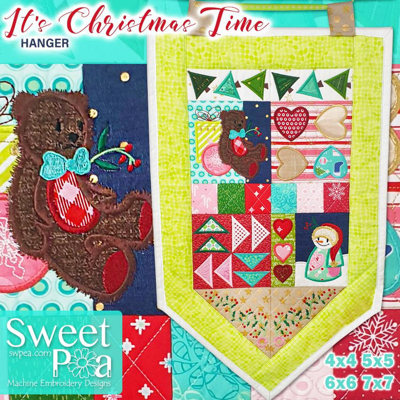 It's Christmas Time - Sweet Pea In The Hoop Machine Embroidery Design