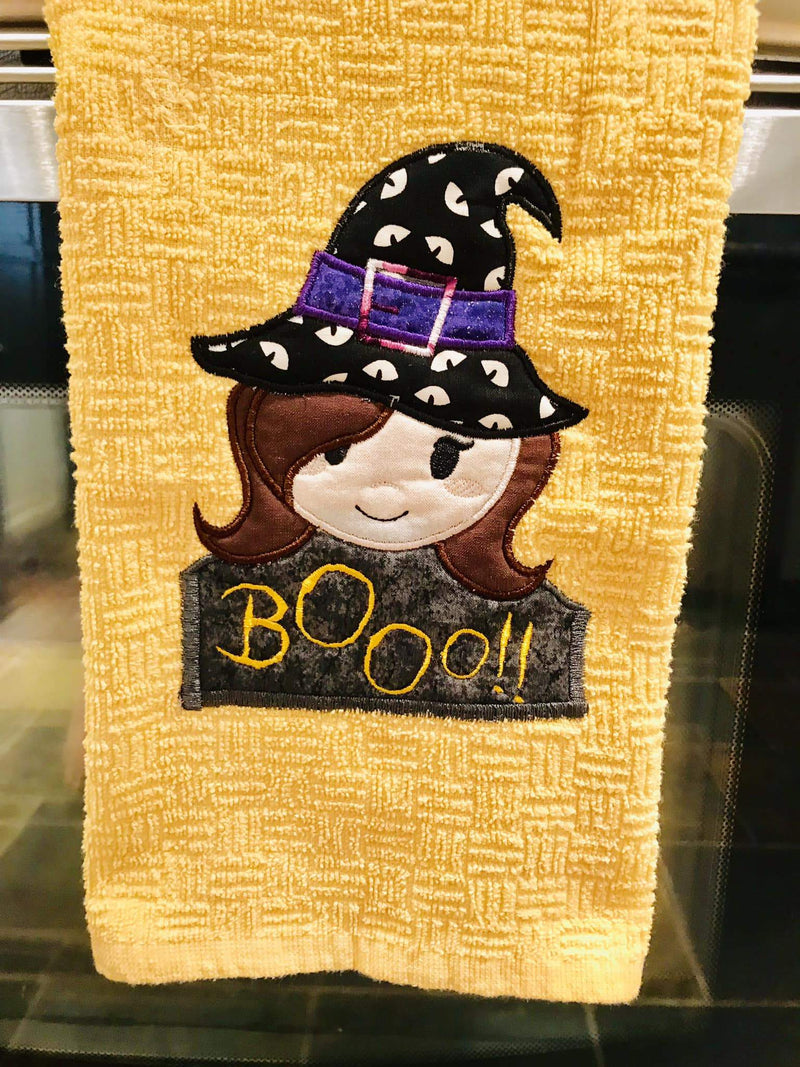 Five Witches table runner 5x7 6x10 8x12 - Sweet Pea In The Hoop Machine Embroidery Design