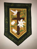 Cross and Easter Lilies Wall Hanging 5x7 6x10 7x12