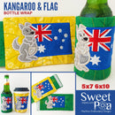 Kangaroo and Flag Bottle Wrap 4x4 5x7 and 6x10 - Sweet Pea In The Hoop Machine Embroidery Design