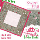 Lattice Flower Quilt Border Block 4x4 5x5 6x6 7x7 - Sweet Pea In The Hoop Machine Embroidery Design