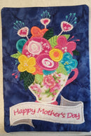 Happy Mother's Day mugrug 5x7 6x10 7x12 9.5x14 - Sweet Pea In The Hoop Machine Embroidery Design