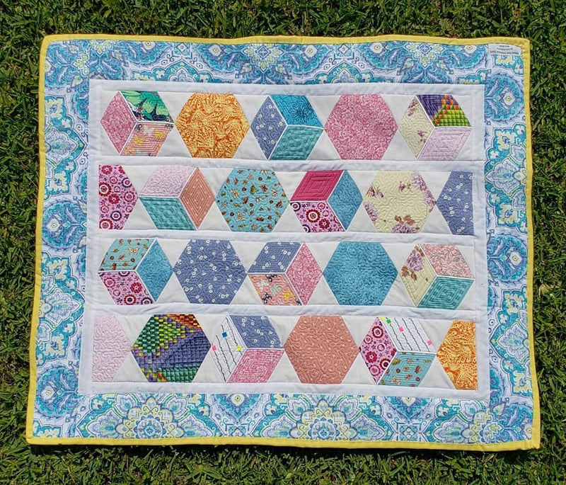 Hexagon Quilt 4x4 5x5 and 6x6