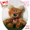 Love Bear Stuffie Stuffed Toy 5x7 6x10 - Sweet Pea In The Hoop Machine Embroidery Design