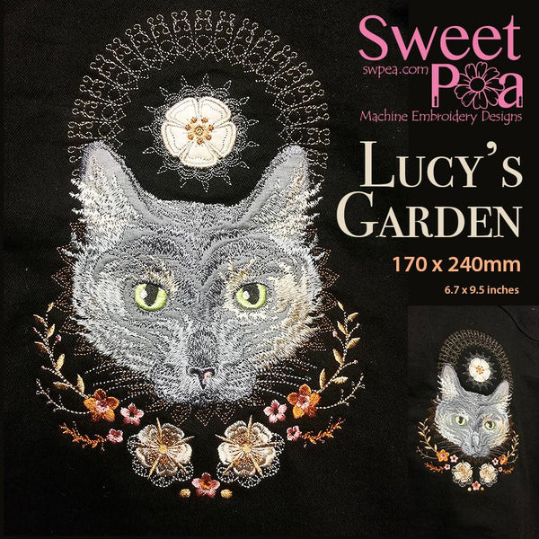 Lucy's Garden Embroidery Design - Sweet Pea In The Hoop Machine Embroidery Design