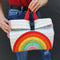 Rainbow Picnic Lunch Bag 4x4 5x5 6x6 7x7
