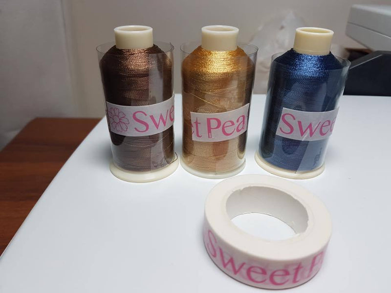 Sweet Pea Washi Tape 6 Pack - Australia - Sweet Pea In The Hoop Machine Embroidery Design
