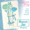 Mason Jar Mugrug 5x7 6x10 7x12 9.5x14 - Sweet Pea In The Hoop Machine Embroidery Design
