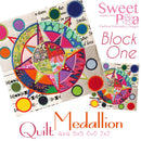 Medallion BOM Sew Along Quilt Block 1 Centre - Sweet Pea In The Hoop Machine Embroidery Design