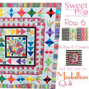 Medallion BOM Sew Along Quilt Block  6 and Corner Block 6 - Sweet Pea In The Hoop Machine Embroidery Design